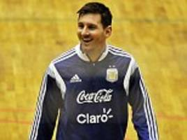 Lionel Messi prepares for Argentina return ahead of the World Cup... but why are they training on a basketball court?